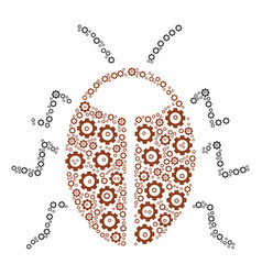 Bug collage of gear vector
