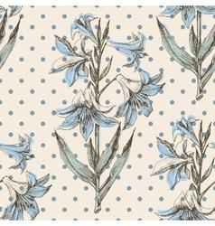 Retro floral pattern vector image vector image