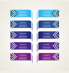 business concept with 10 options vector image vector image