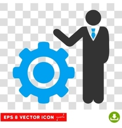 Engineer And Gear Eps Icon vector image vector image
