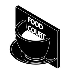 Food court icon simple style vector