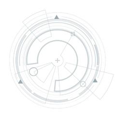 Futuristic user interface HUD Virtual graphic vector image