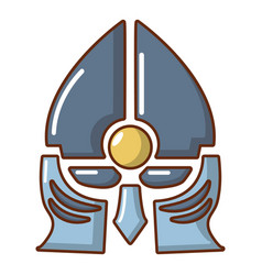medieval knight helmet icon cartoon style vector image