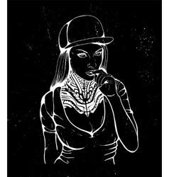 sex rap girl vector image