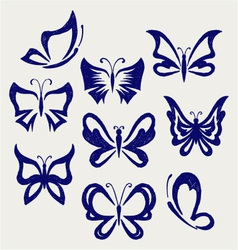 Various butterflies vector image vector image