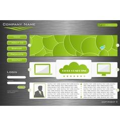 Web site design vector image vector image