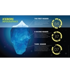 Iceberg infographics ice and water sea vector