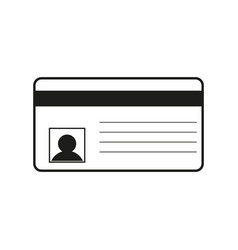 id card sign black icon on vector image
