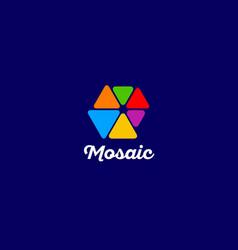 mosaic logo vector image vector image