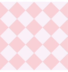 Pink White Chess Board Diamond Background vector image