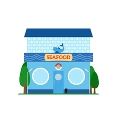 Seafood flat style icon isolated on white vector image vector image