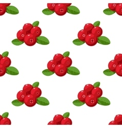 seamless pattern Cartoon cranberries with vector image vector image