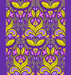 Seamless vintage colorful pattern vector
