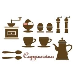 Set household kitchen vector image vector image
