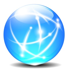 Sphere with Communication line vector image vector image