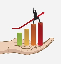 success in hand vector image
