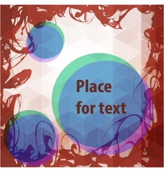 Abstract frame design with round place for text vector image vector image