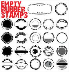 empty grunge rubber stamps vector image
