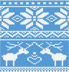 knitted deer pattern vector image vector image