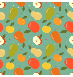 Seamless apple and pear pattern vector image vector image