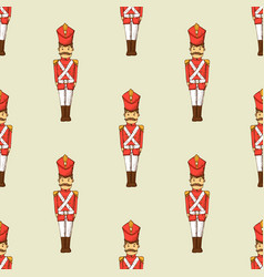 toy soldier seamless pattern vector image vector image