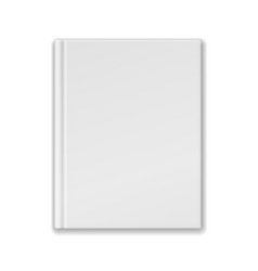 White Blank Book Or Notebook Template vector image vector image