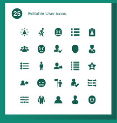 25 user icons vector