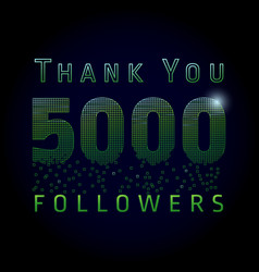 5000 followers pixels dark vector