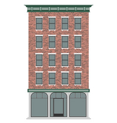 a classic american brick multi-storey house vector image