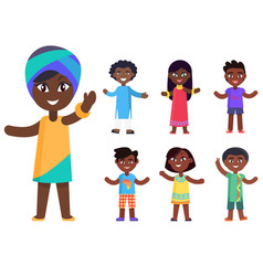 african children boys and girls isolated vector image