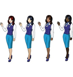 air hostess 3 vector image