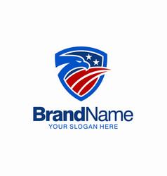 American eagle mascot icon logo vector