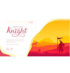 ancient medieval knight standing on battlefield vector image