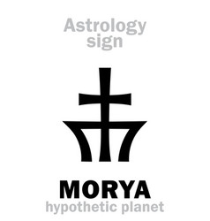 Astrology planet morya vector