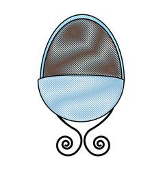 baby crib drawing icon vector image