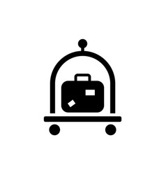 baggage luggage suitcases trolley icon vector image