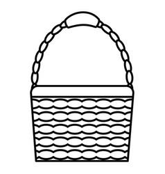 basket straw empty icon vector image