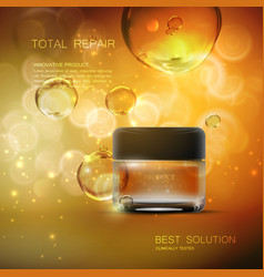 beauty anti aging cream ads vector image