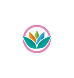 Beauty lotus icon flowers design vector