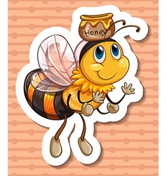 Bee and honey vector image