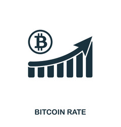 bitcoin rate increase graphic icon mobile apps vector image