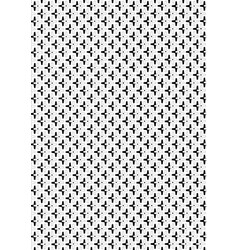 Black and white overlapping crosses pattern vector