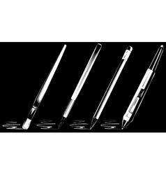 brush set on black background vector image