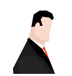 businessman face icon sign manager head vector image