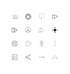 Buttons linear thin icons set outlined simple vector