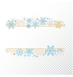 christmas snow flake frame transparent background vector image