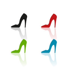 colour heels icons vector image