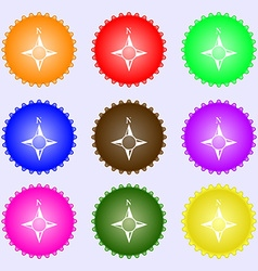 Compass sign icon Windrose navigation symbol A set vector