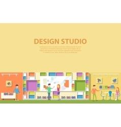 Creative graphic studio design interior vector