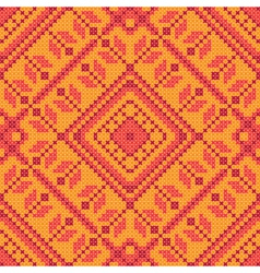 Cross stitch ornament vector image